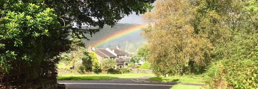 Rainbow over Lowick Green taken by @shop_TNL
